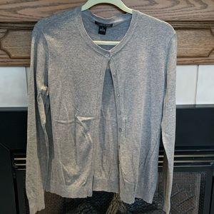 August Silk- Gray Cardigan- Size M